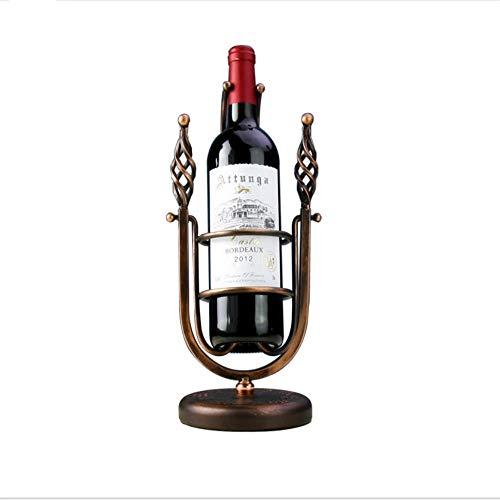MASODHDFX Scaffale da Vino Europeo in Ferro battuto, cremagliera Creativa per Vino,A