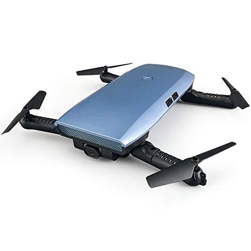 RC Drone con Telecamera HD 720P, WiFi Filmati dal Vivo FPV Mini Quadricottero Pieghevole, Sensore di...