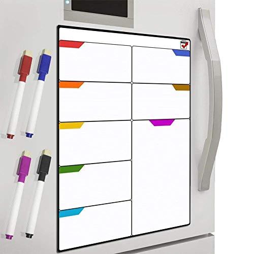DIY lavagna da frigorifero, DUTISON Calendario magnetico frigorifero Calendario Settimanale per...