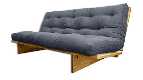 Divani letto Yokahoma Naturale, futon Grigio, 200x120x24 cm