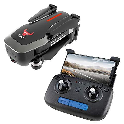 Mini Drone GPS 5G WiFi FPV 4K Fotocamera Drone Brushless Selfie Drone GPS 4K Quadcopter Rc Droni con Fotocamera HD Rc Elicottero Sg906,Black,1080P