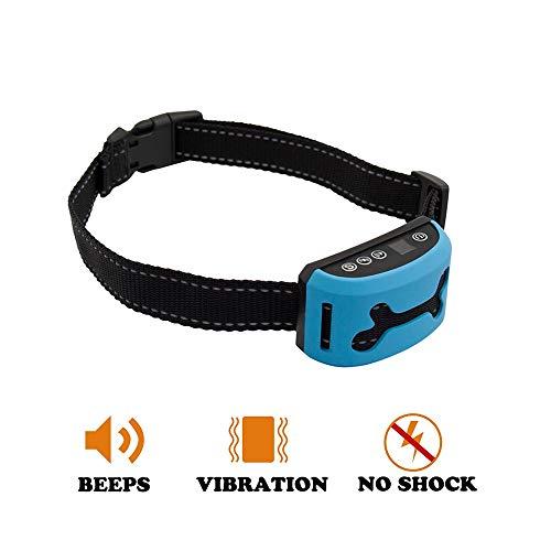 MyICETag No Bark Rechargeable Dog Training beep+Vibration no Shock Dog bark Collar
