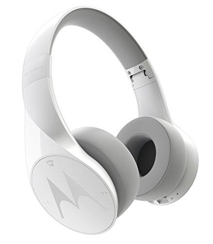 Motorola Pulse Escape Wireless Over-Ear Headphones with Alexa (White)