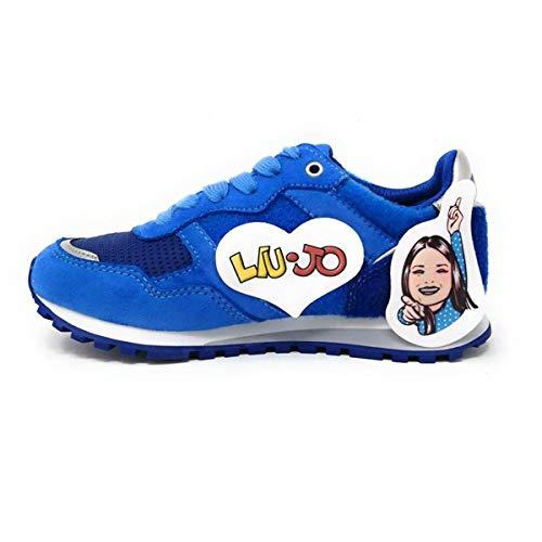 Liu-Jo Me Contro Te Sneakers Lacci Bimbo/Ragazzo in Tessuto e Velcro + Adesivi 4XX799TX08100009 (34 EU)