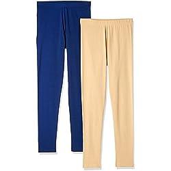Myx Women's Cotton Stretch Leggings (Pack of 2) (AW16LEG01PCKD_Multi_Small)