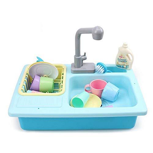 Hamkaw Giocattoli per Lavelli da Cucina per Bambini, Gioco di Simulazione Utensili da Cucina, Fai...