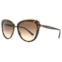 Dolce & Gabbana occhiali da sole cateye sopracciglia in nero metallo DG4304 501/8G 57