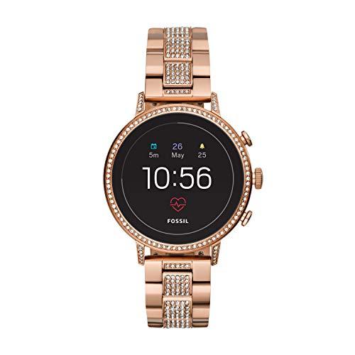 Fossil Damen Digital Smart Watch Armbanduhr mit Edelstahl Armband FTW6011