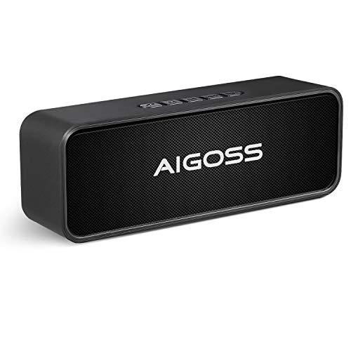Aigoss Altoparlante Bluetooth Portatile Cassa Bluetooth 5,0 Senza Fili del con Doppio Driver Bassi...