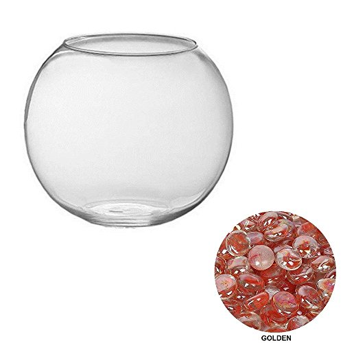 JAINSONS PET PRODUCTS Home Decoration Betta Fish and Goldfish Purse Style Bowl-Small