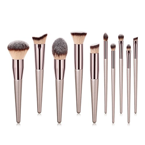 DaoRier 10 Stück Makeup Pinsel Set Bürsten Schminkpinsel Kosmetikpinsel Professionelle Schmink Pinselsets Beauty Tools