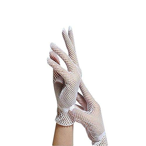 Tinksky Guanti Ladies Hollow Hollownet guanti di vestito da sposa Summer Sunscreen guidare lunghezza...