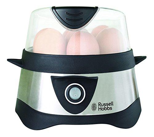 Russell Hobbs 14048-56 Cuoci Uova, 365 Watt, Nero/Acciaio