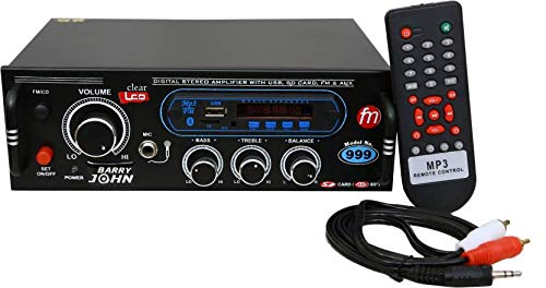 Barry John Surround Amplifier with USB,AUX,MMC,FM,MIC-in,Bluetooth & Double Ic 4440 160 W AV Power Amplifier