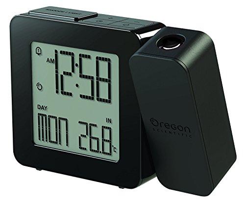 Oregon Scientific PROJI RM338P-BK - Orologio con proiezione e doppio allarme sveglia, Nero