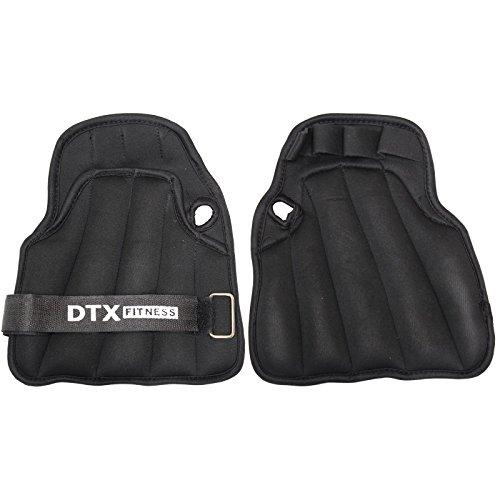DTX Fitness Guanti zavorrati da allenamento - Da 3 kg, 4 kg e 5 kg