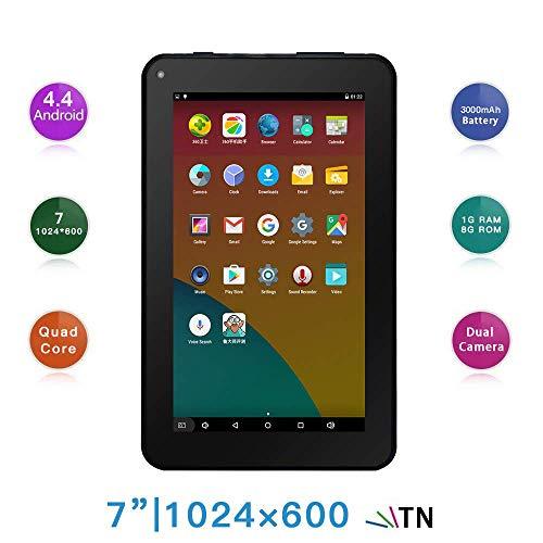 TXVSO Pad Tablet PC da 7 pollici - Google Android 4.4 Quad Core, schermo 1024x600, fotocamera doppia...