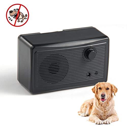 AUOKER Anti Barking Device, Waterproof Ultrasonic Dog Bark Silencer, Durable Bark Deterrent to Control Dogs Barking Outdoor or Indoor