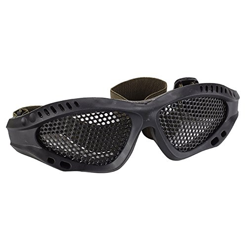 Leoie Tactical Eyes Protection Plastic Goggles Safety Glasses for Shooting CS Game Black