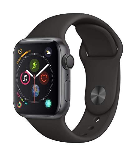 AppleWatch Series4 (GPS) con caja de 40mm de aluminio en gris espacial y correa deportiva negra