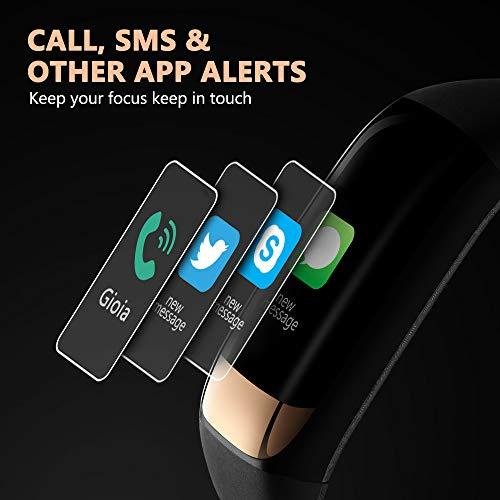 siroflo Fitness Tracker, Montre Connectée Tracker d'Activité IP67 étanche, Smartwatch Bracelet Bluetooth Podomètre avec Moniteur de Sommeil/... 24