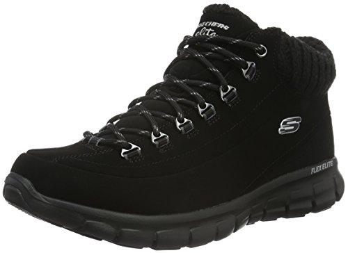 Skechers (SKEES) SYNERGY-WINTER NIGHTS, Women Low-Top Sneakers, Black (Black), 6 UK (39 EU)