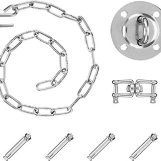 Purovi® Kit di Montaggio Completo per Poltrone Sospese e Amache   Inclusa Maniglia Girevole   Capacità di carico fino 300 Kg