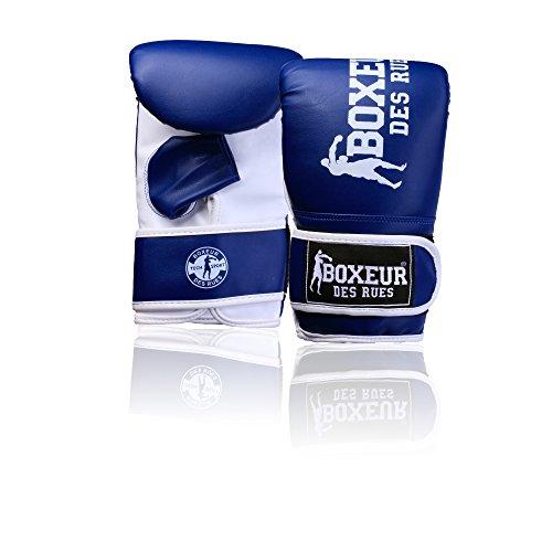 BOXEUR DES RUES Fight Activewear, Guanti da Sacco per L'allenamento Uomo, Blu, M