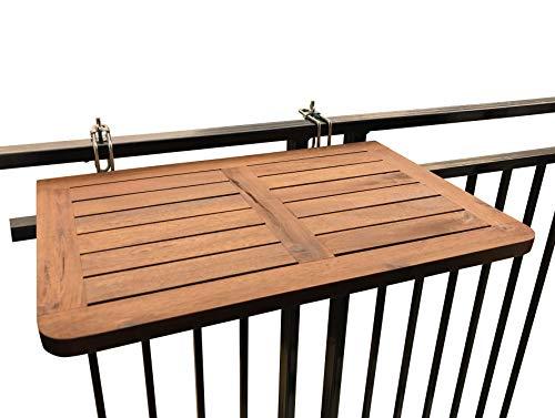 Click Deck, tavolo pieghevole da balcone, in legno massiccio, da appendere alla ringhiera, adatto...