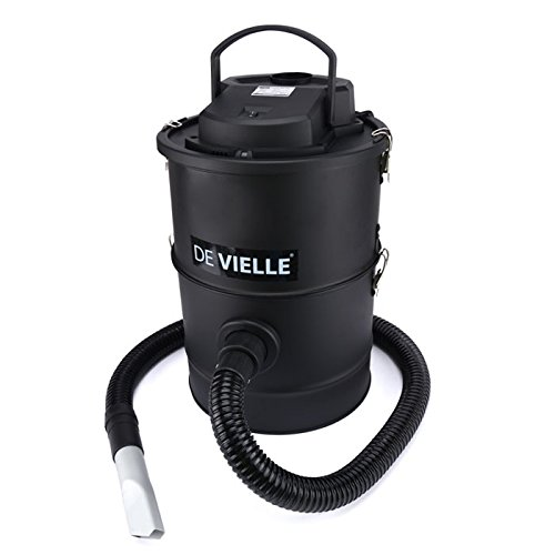 De Vielle Ash Vacuum Cleaner - Featuring a 1200W motor and a 25-litre capacity, this ash vacuum can handle large amounts of ash and retain it thanks to the 3 layer filtration system which is one of the features that makes it a stand out model and possible the best choice for using inside your home when sucking up ash without getting clogged up easily unlike some other models available.