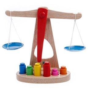 Xuniu Montessori Kids Juguete de Aprendizaje temprano, Bebé Educativo de Madera Escala de Desarrollo temprano Juguete Divertido Juego de Equilibrio