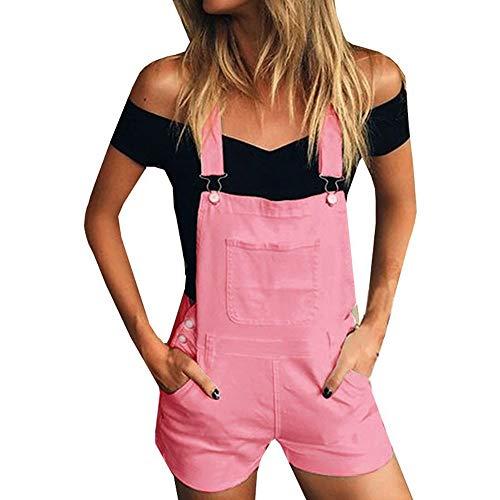 K-Youth® Petos Vaqueros Mujer Cortos Casual Elásticos Vaqueros para Mujer Cintura Alta Pantalón de Mujer Pantalones de Mezclilla Mujeres Jeans Mujer Boyfriend Slim Pantalones Cortos Mujer