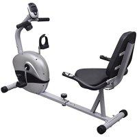 VidaXL 90981 - Bicicleta reclinada estática
