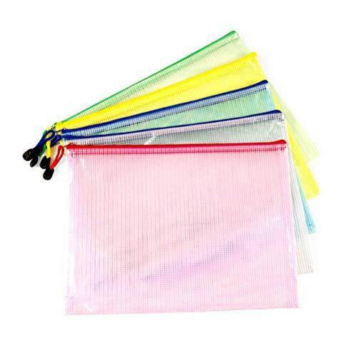 Vicloon Sacchetto di zip, sacchetto di documenti portatile in formato A4 formato colorato con...