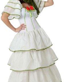 Atosa-15610 Disfraz Dama Sureña, color blanco, XL (15610)