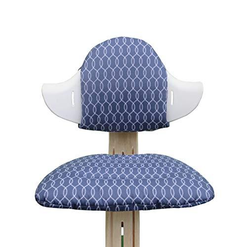 Blausberg Baby - Set cuscini per il seggiolone Nomi di Evomove - Sailor Blu