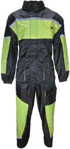 HEYBERRY Motorrad Regenkombi Regenhose Regenjacke schwarz neon grün 8
