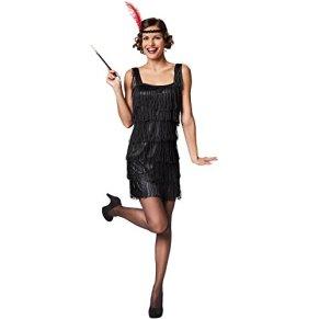 TecTake dressforfun Disfraz Charleston para Mujer | Flecos Atractivos | Aspectos a Destacar: Cinta del Pelo con Plumas (XXL | no. 301584)