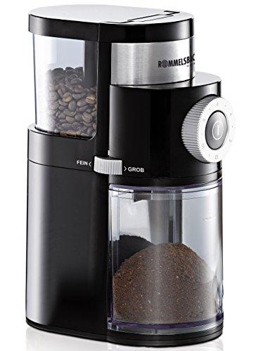 ROMMELSBACHER EKM 200 elektrische Kaffeemühle mit Scheibenmahlwerk / Kaffeepulver täglich frisch /...