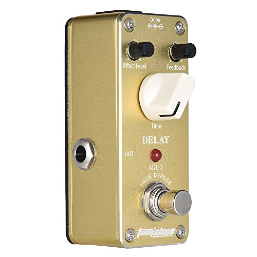 Docooler Aroma ADL-3 Mini Delay Electric Guitar Effect Pedal with Fastener Tape Aluminum Alloy Housing True Bypass