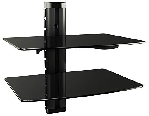 RICOO Scaffale pensile TV scansia Supporto da Parete Dvd Design Supporto | DVD-B2XL | Porta in Vetro...