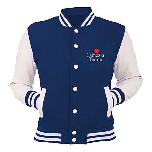 College Jacket Blu Royal TLOVE0080 I Love Heart LAMEZIA Terme