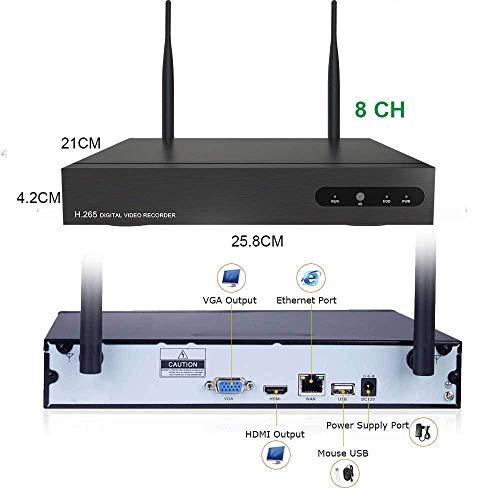 Kit de Surveillance Vidéo WiFi Aottom 8CH 720P WiFi Kit + 4pcs Caméras WiFi, Caméras de Surveillance WiFi Kit, Vision Nocturne, Détection de... 5