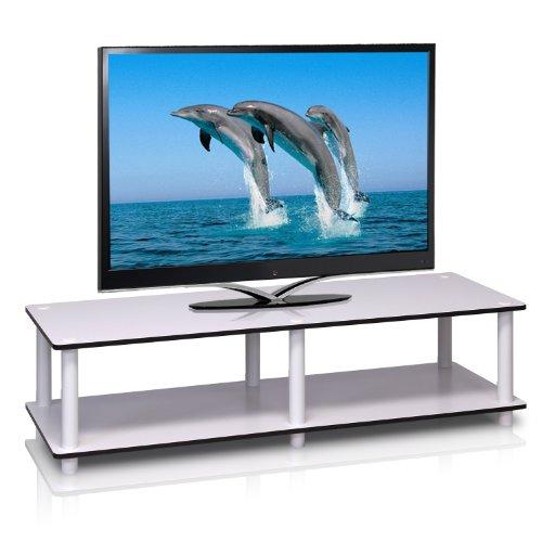 Furinno Just tavolino, White/White, Wide 41.3'(W) x10.9(H) x15.6(D)