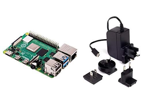 RASPBERRY PI 4 Model B 2 GB di RAM con Alimentatore multicanale 5.1V 3A USB-C