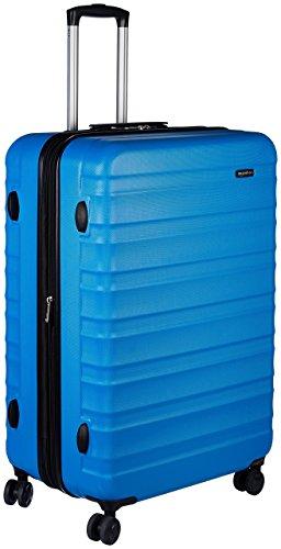 AmazonBasics - Valigia Trolley rigido con rotelle girevoli, 78 cm, Blu chiaro