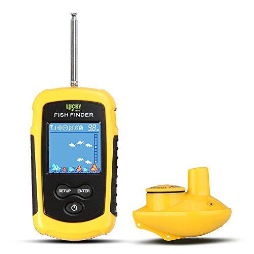 CHSEEO Fishfinder Cercatori dei Pesci Allarme Wireless Fish Finder Sensore Sonar Trasduttore Ecoscandaglio Portatile Allarme Deeper profondità Finder per Ghiaccio/Mare/Fiume #1