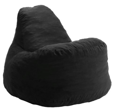 Big Joe Super Chillout Fuf Chair - Black Microsuede