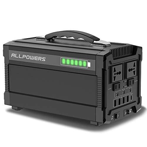 ALLPOWERS 288Wh 78000mAh Generador Inverter, Generador Portátil Solar Carga con AC 220V Salida de DC 12V USB de energía portátil eléctrica para Camping, Tablet, Dron y Actividades externas