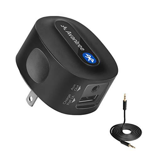Avantree Adattatore Ricevitore Bluetooth Audio con Spina, aptX a BASSA LATENZA per HiFi, Stereo Home Theatre, Altoparlanti, supporta 3,5mm AUX, RCA - Roxa Plus [2 Anno di Garanzia]